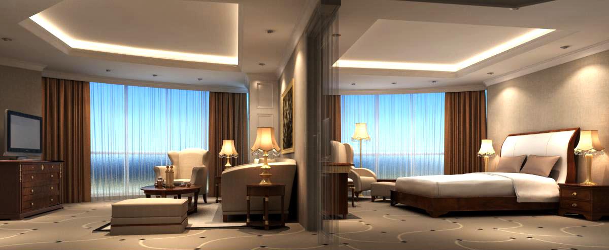 guest room scene 0202 3d model max 136438