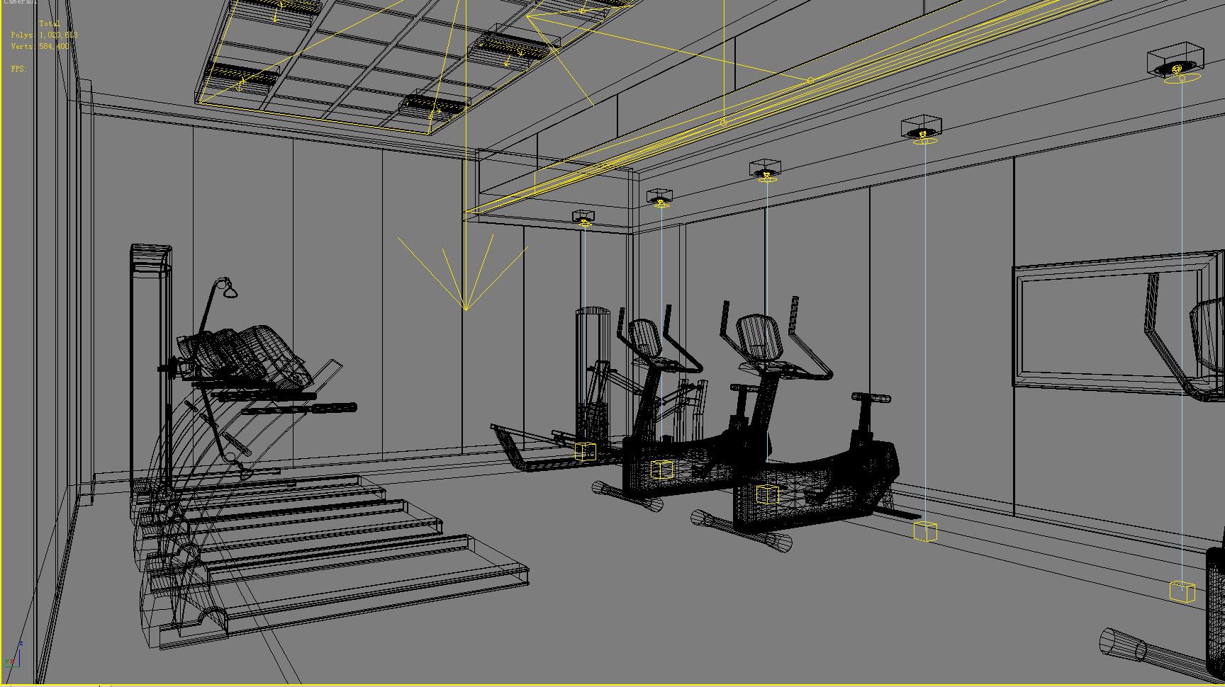 gymnasium 023 3d model max 121890