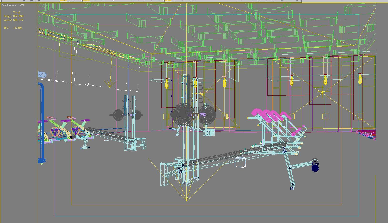 gymnasium 027 3d model max 121898