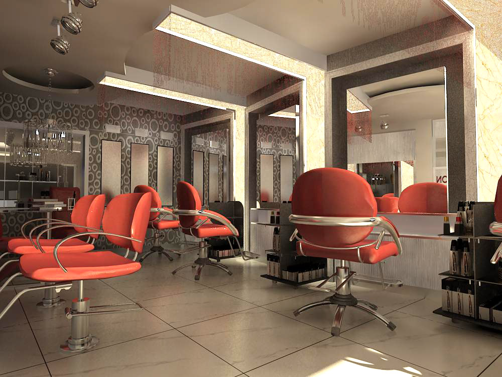 hairdressing room 001 3d model max 136977