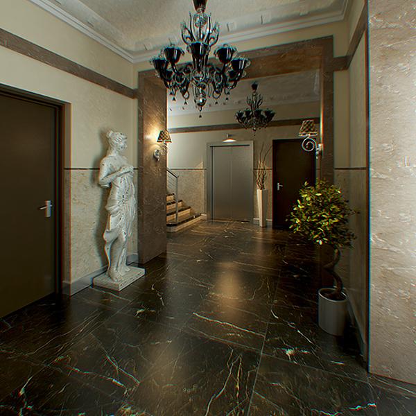 hall lobby decorated interior full scene 3d model 3ds max c4d jpeg jpg texture obj 143474