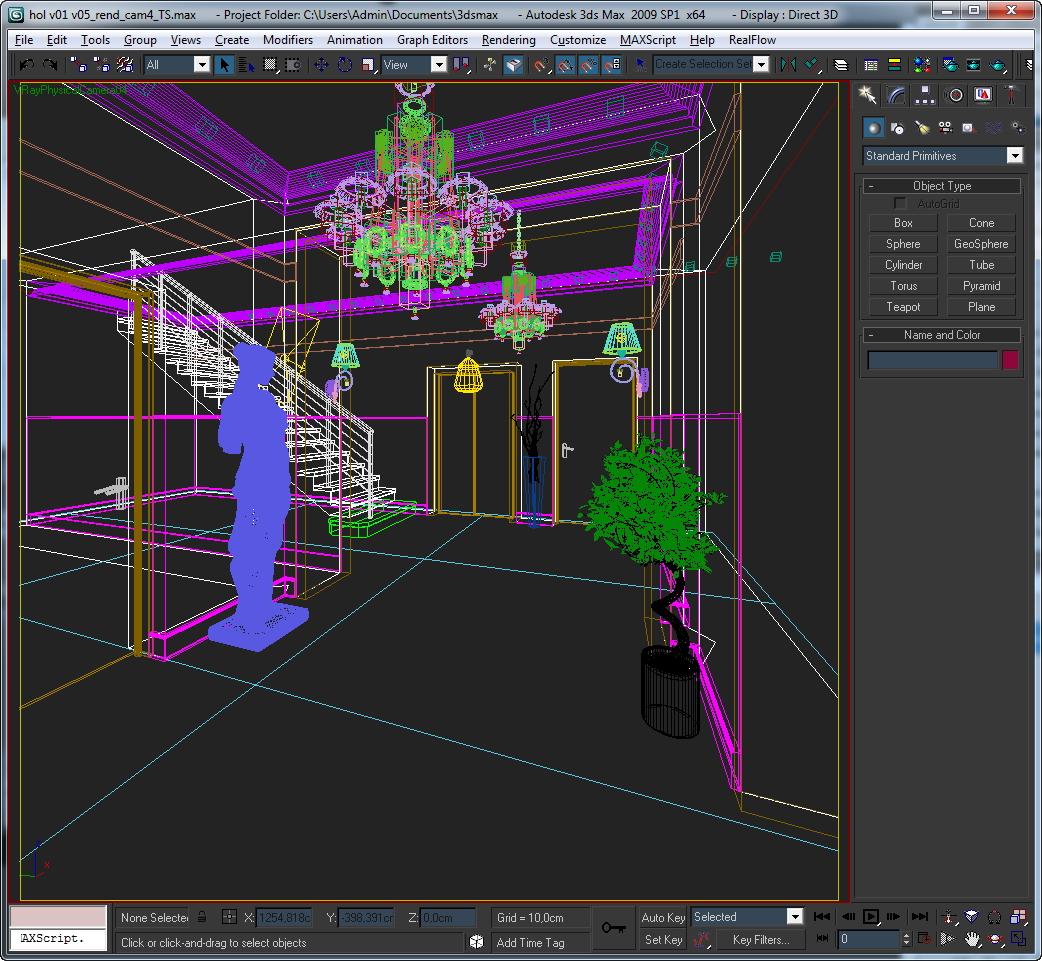 hall lobby decorated interior full scene 3d model 3ds max c4d jpeg jpg texture obj 143475