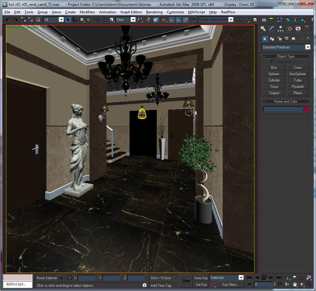 hall lobby decorated interior full scene 3d model 3ds max c4d jpeg jpg texture obj 143476