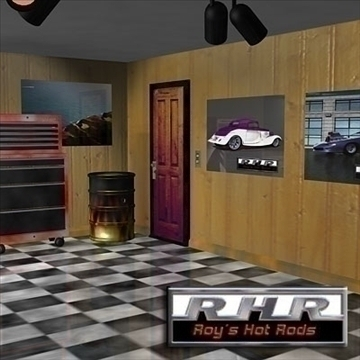 hot rod garage 3d model lwo obj 81897