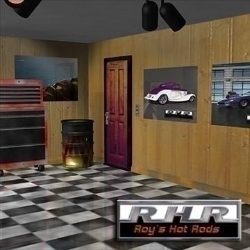 garaža s vrućom štapom 3d model lwo obj 81897