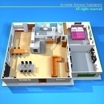 house cutaway2 3d model 3ds dxf c4d obj 93263