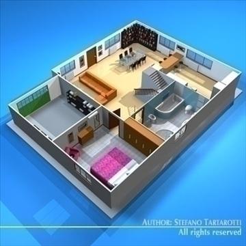 house cutaway2 3d model 3ds dxf c4d obj 93264