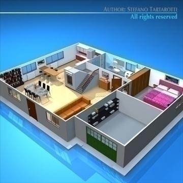 house cutaway2 3d model 3ds dxf c4d obj 93265