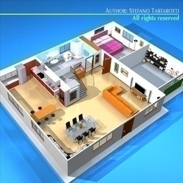 house cutaway2 3d model 3ds dxf c4d obj 93266
