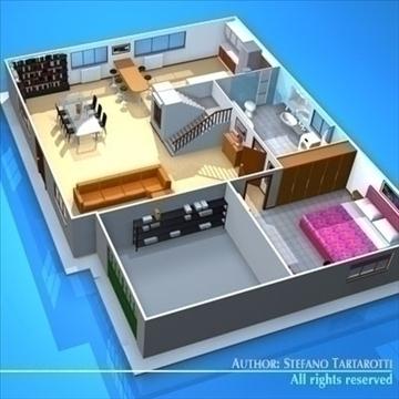 house cutaway2 3d model 3ds dxf c4d obj 93267