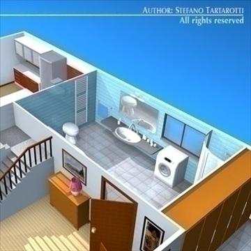 house cutaway2 3d model 3ds dxf c4d obj 93268