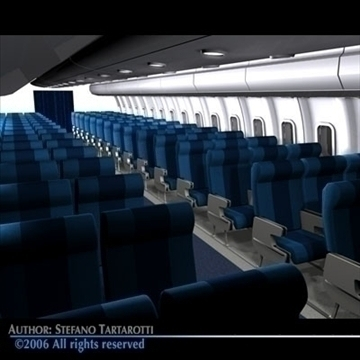 interior plane 3 3d model 3ds c4d obj 81425
