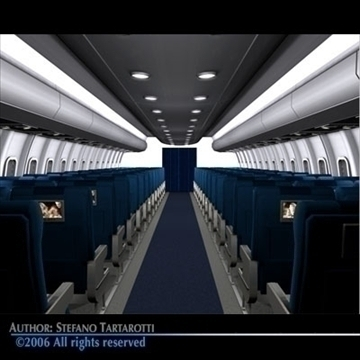 interior plane 3 3d model 3ds c4d obj 81426