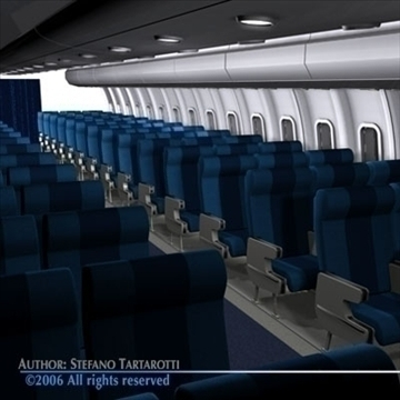 interior plane 3 3d model 3ds c4d obj 81427
