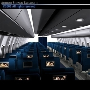 interior plane 3 3d model 3ds c4d obj 81428
