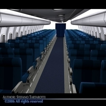 interior plane 3 3d model 3ds c4d obj 81429