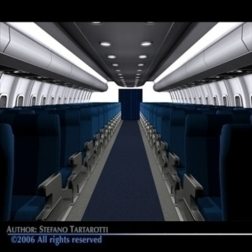 interior plane 3 3d model 3ds c4d obj 81430