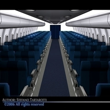 interior plane 3 3d model 3ds c4d obj 81431