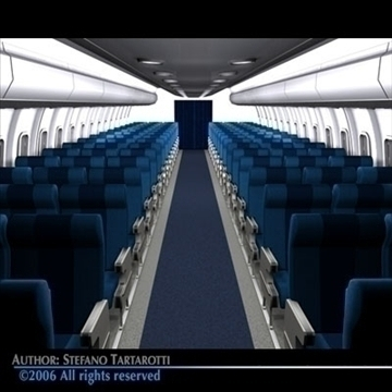 interior plane 3 3d model 3ds c4d obj 81432