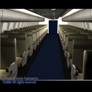interior plane 3d model 3ds c4d obj 77392