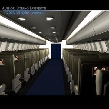 interior plane 3d model 3ds c4d obj 77393