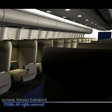 interior plane 3d model 3ds c4d obj 77394