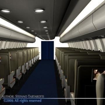 interior plane 3d model 3ds c4d obj 77395