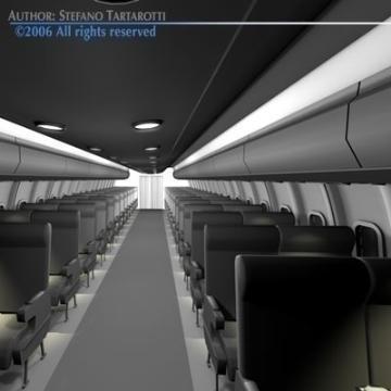 interior plane 3d model