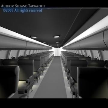 interior plane 3d model 3ds c4d obj 77397