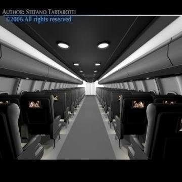 interior plane 3d model 3ds c4d obj 77398