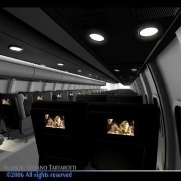 interior plane 3d model 3ds c4d obj 77399