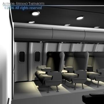 interior plane 3d model 3ds c4d obj 77400