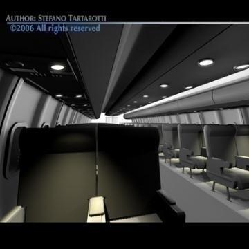 interior plane 3d model 3ds c4d obj 77401