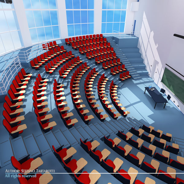 lecture hall modern 3d model 3ds dxf c4d dae obj 88878