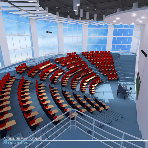lecture hall modern 3d model 3ds dxf c4d dae obj 88879