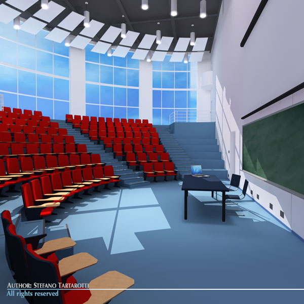 lecture hall modern 3d model 3ds dxf c4d dae obj 88880