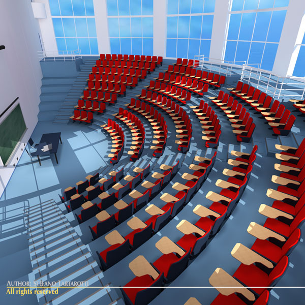 lecture hall modern 3d model 3ds dxf c4d dae obj 88881