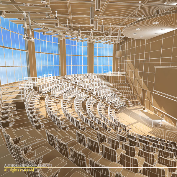 lecture hall modern 3d model 3ds dxf c4d dae obj 88882