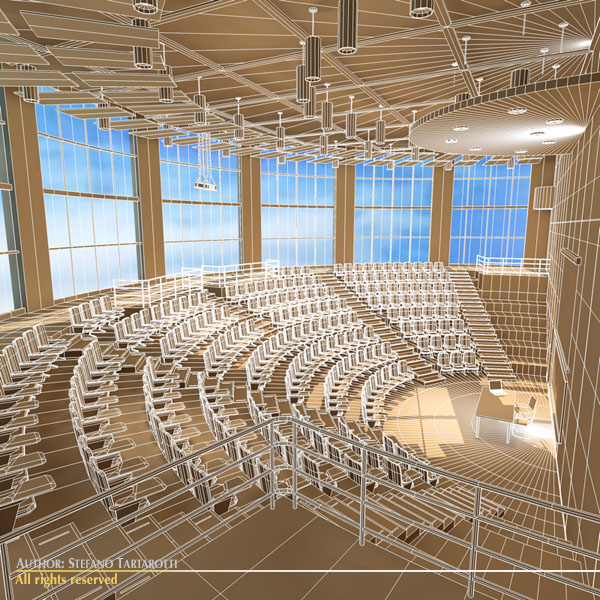 lecture hall modern 3d model 3ds dxf c4d dae obj 88883
