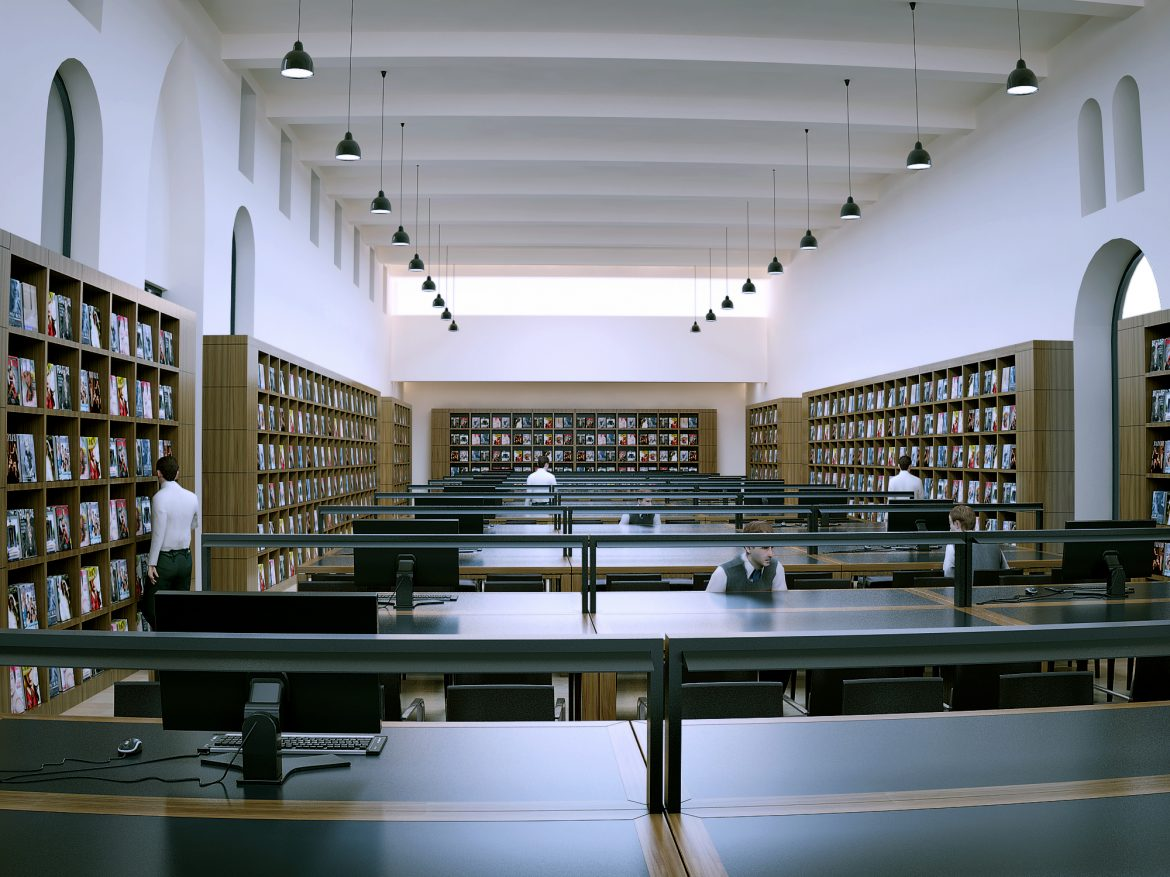 library reading room scene 3d model max 137500