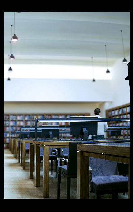 library reading room scene 3d model max 137503