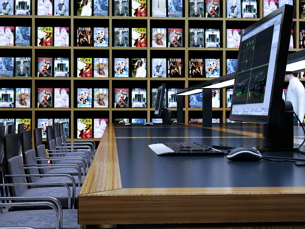library reading room scene 3d model max 137505