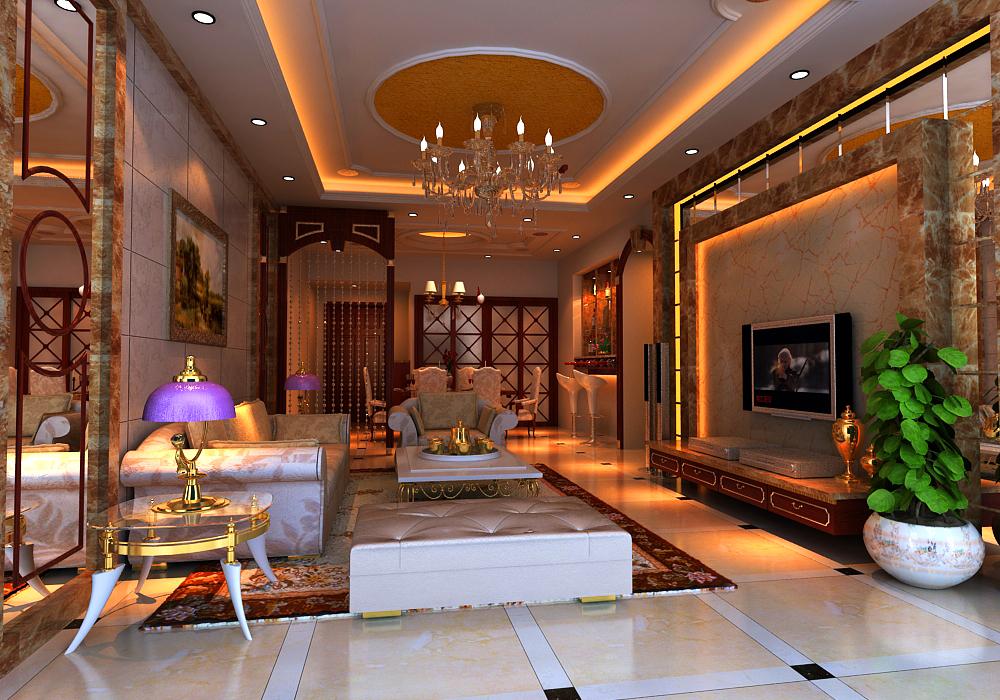 living room 009 3d model max 136605