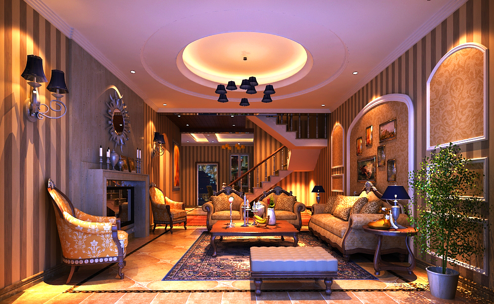 living room 013 3d model max 136613