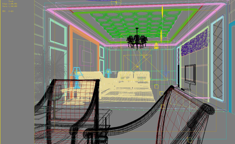 dzīvojamā istaba 016 3d modelis max 136619