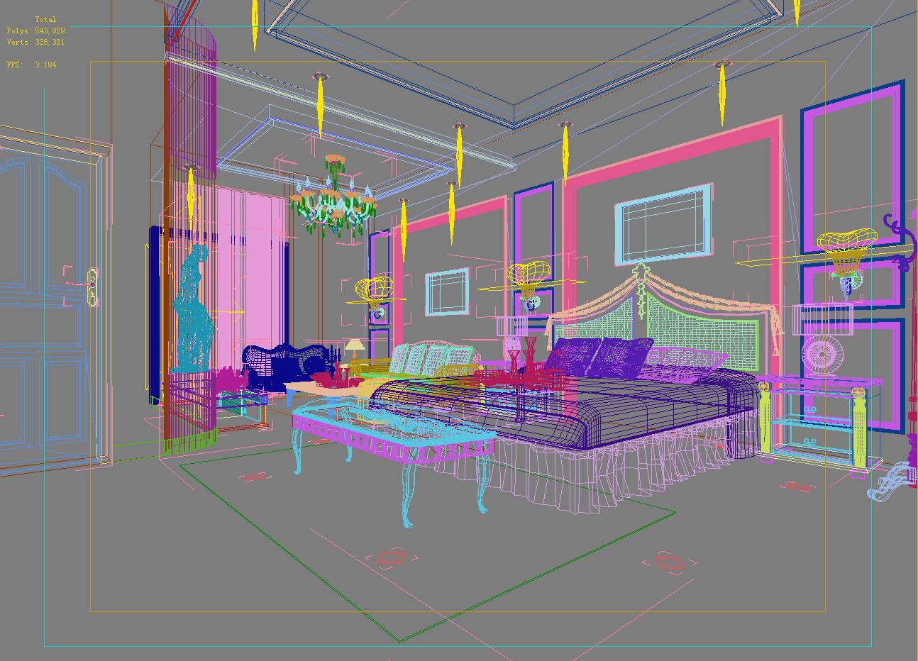 dzīvojamā istaba 027 3d modelis max 136642