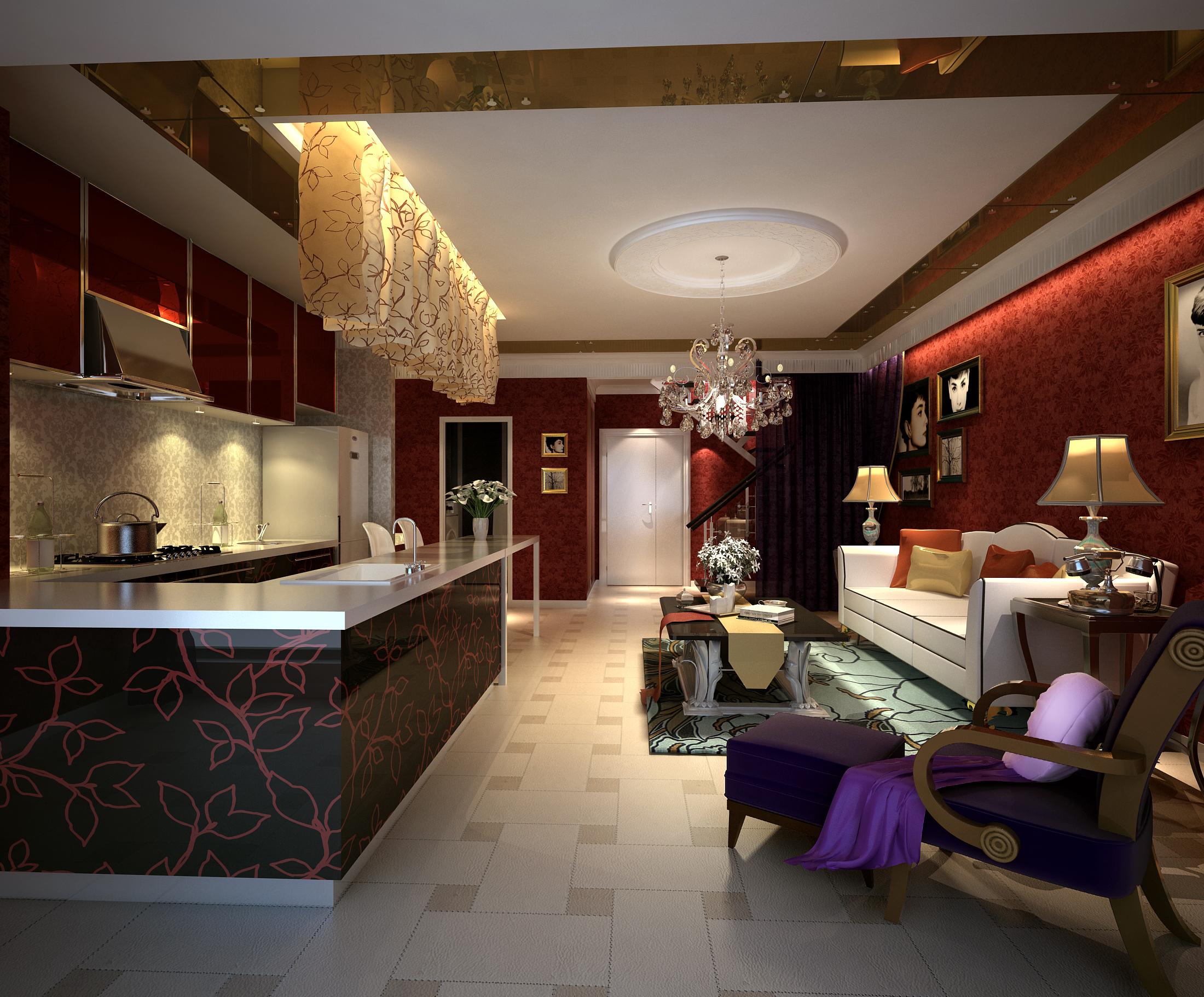 living room 037 3d model max 136661