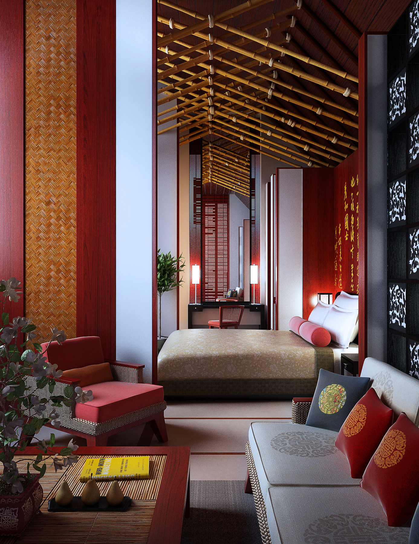 living room 041 3d model max 136667