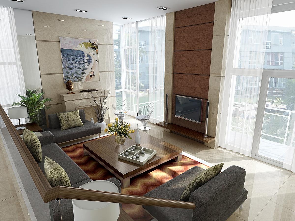 living room 042 3d model max 136669