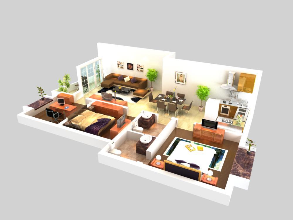 living room 056 3d model max 136711